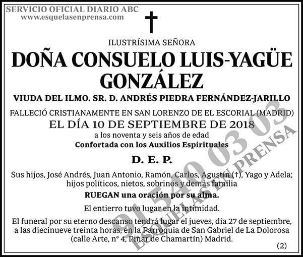 Consuelo Luis-Yagüe González